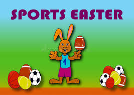 sports easter eggs sports easter stock illustration illustration of bunny 86504267