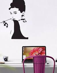 classic must have look audrey hepburn wall decoration stickers