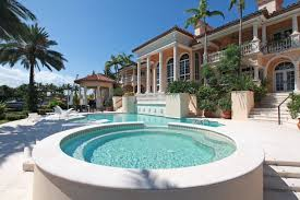 nice simple design of the miami florida houses that has round pool