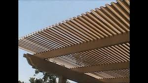 Pergola Gazebo With Adjustable Canopy by Adjustable Louvered Pergola Opening U0026 Closing Youtube