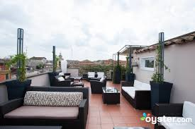 roof top bar and restaurant at the hotel indigo rome st george