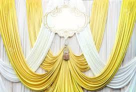 White And Gold Curtains White And Gold Curtain Backdrop Background For Wedding Stock Photo