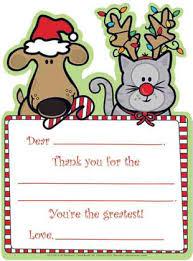 christmas thank you cards slim image