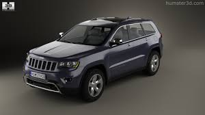 overland jeep cherokee 360 view of jeep grand cherokee overland 2014 3d model hum3d store