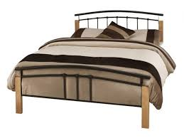 Beech Bed Frame Serene Tetras Metal Bed Frame Beech Or White