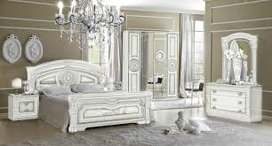Silver Bedroom Furniture Sets by Versace Aida Design Italian 6 Item Bedroom Set In White Silver Ebay