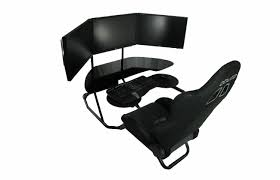 ideal triple monitor setup however a leather recliner would a