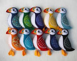 felt birds magnets etsy