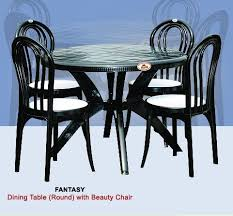 plastic round table and chairs plastic round dining table with chair uma plastics limited