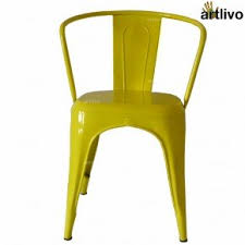 French Yellow Chair Buy Metal Chairs Online India Buy Wooden Chairs Online India