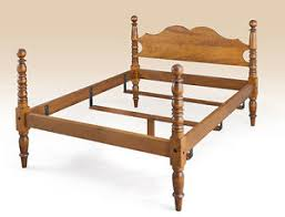 queen size cannonball bed frame tiger maple wood american made