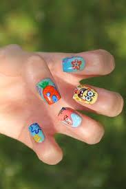 spongebob squarepants bottom mani nail fashion