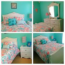 Coral Bedspread Turquoise And Coral U0027s Bedroom Room Makeover Pinterest