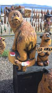 Teddy Bear Rocking Chair Rockler Company Bear Chainsaw Carving In Columbia Falls Montana By David