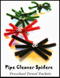 Halloween Pipe Cleaner Crafts Pipe Cleaner Spider Preschool Craft Preschool Powol Packets