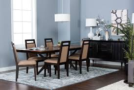 Rectangle Dining Room Table by Spencer 7 Piece Rectangle Dining Set W Uph Chair Living Spaces