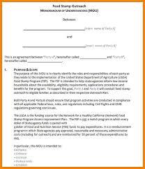 4 mou template resume format pdf