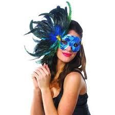 blue mardi gras beautiful sequined bright blue feathered mardi gras costume eye