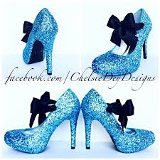 Light Blue High Heels Glitter High Heels Light Blue Pumps Aqua Turquoise Ice Calypso