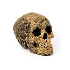 golden hexa skull ornament atelier poly garage