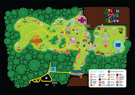 Austin City Limits Map by Relive The Music With These Gorgeous Festival Maps Guidebook