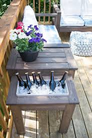 Diy Patio Coffee Table Diy End Table With Built In Planter Or Outdoor Spaces