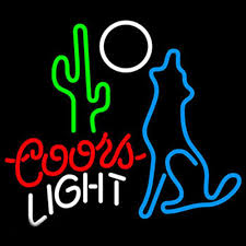 coors light bar sign coors light coyot neon sign neon lights and truths