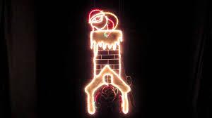 light display light santa in chimney u0026 fireplace youtube