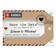 luggage tag save the date italy airmail luggage tag save the date card zazzle