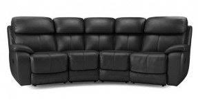 Four Seater Recliner Sofa Curved Reclining Sofa Foter