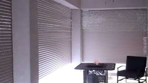 Interior Security Window Shutters Rolling Shutter Security Shutter Patio Enclosure Youtube