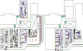 floor plan hospital plan of multi flooring private hospital project dwg file