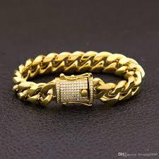 cuban link bracelet men images Top quality bling iced out womens mens curb cuban link bracelets jpg