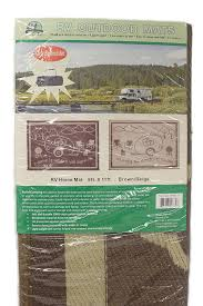 Rv Awning Mats 8 X 20 by Amazon Com Stylish Camping Rh8117 Brown Beige 8 U0027x11 U0027 Rv Home Mat