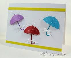 How To Make Paper Umbrellas - impression obsession umbrella card using my fingers i rounded