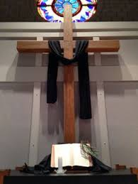 Easter Decorations For Church Sanctuary by Good Friday Church Decoration Idea Church Decor Ideas Lent