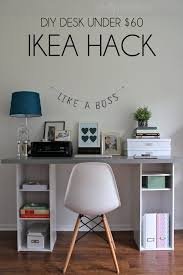 Diy Cheap Desk Ikea Hack Desk Diy For 60