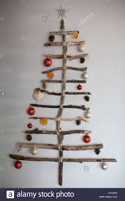 driftwood christmas tree made form pieces of driftwood found on