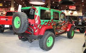 custom jeep red vwerks showcases hemi powered jeep wranglers off road rams