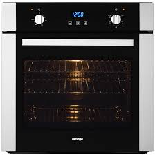 Omega Cooktops Omega 60cm Electric Built In Oven Black Glass U0026 Stainless Steel