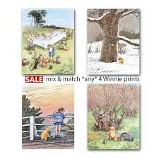 classic winnie the pooh nursery print girls decor boys room