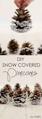 diy snow covered pinecones rustic charm pinecone and christmas