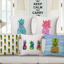 Patio Pillow Covers 14 Styles Pineapple Ananas Cushion Covers Hand Painting Colour