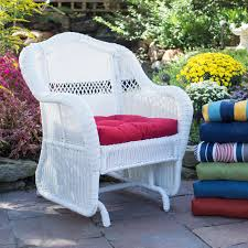 White Wicker Glider Loveseat by Belham Living Lindau All Weather Wicker Loveseat Glider With