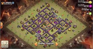 big clash of clans base big bad box anti gowipe hog th8 war base