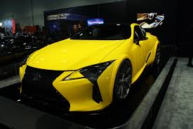 lexus yellow sports car world u0027s first tuned lexus lc 500 debuts autoguide com news