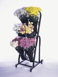 Display Vase 6 Vase Floral Cart Flower Stand Display Retail Display