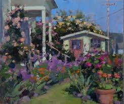 35 best gardens in plein air paintings images on pinterest