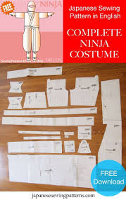 Costumes U0026 Accessories Costco Free Ninja Costume Cosplay Sewing Pattern The Authentic Pattern