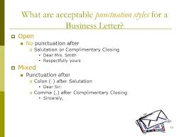 7 best images of business letter opening salutations punctuation
